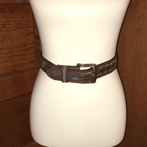 Genuine Leather Camo Nocona Belt